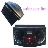 12V black Car Solar power window Portable Air Vent Cool Fan Cooler Ventilation System Radiator Car Solar Fan WITHOUT BATTERY