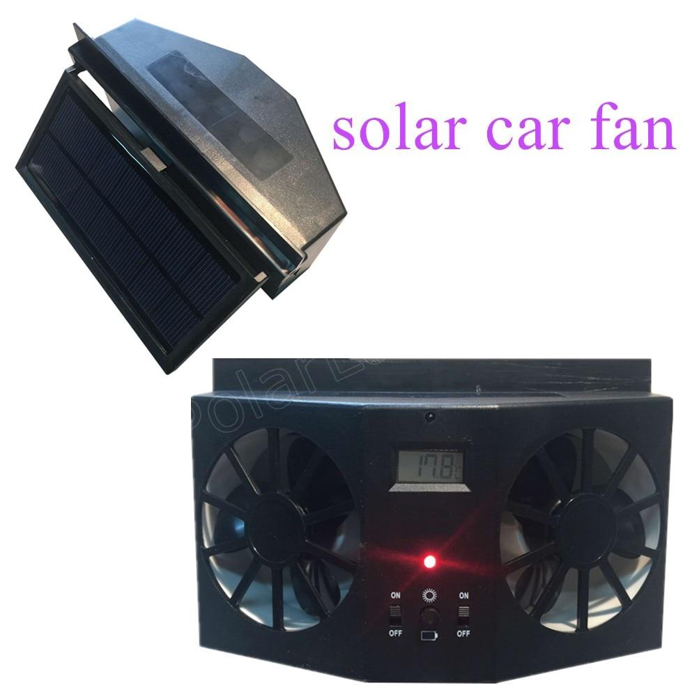 High Quality 12v Black Car Solar Power Window Portable Air