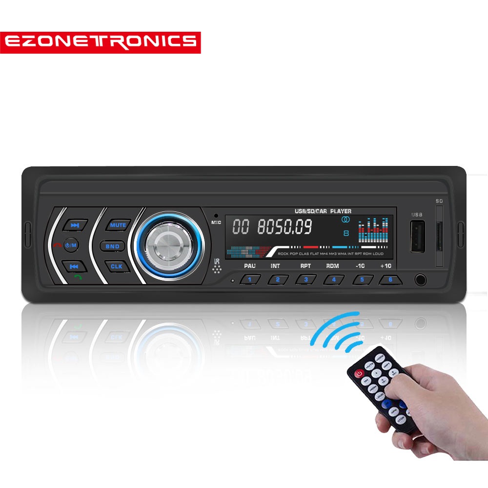 Free shipping <font><b>Car</b></font> Stereo <font><b>Car</b></font> Radio FM and <font><b>MP3</b></font> 4 Bluetooth Receiver Aux <font><b>with</b></font> <font><b>USB</b></font> <font><b>Port</b></font> and <font><b>SD</b></font> <font><b>Card</b></font> music Universal <font><b>player</b></font> JQ1581 image