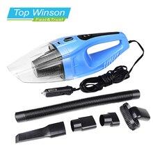 120 W Aspirador Portable Del Coche Mojado Y Seco de Doble Uso Auto Encendedor de Cigarrillos Filtro Hepa 12 V Color Azul