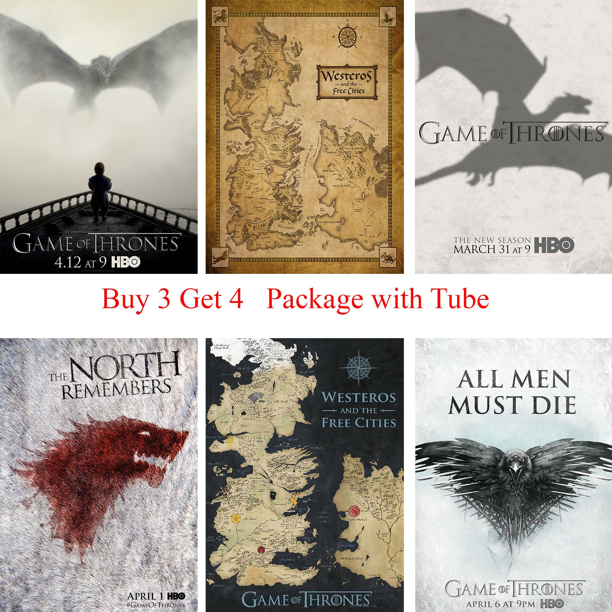 game of thrones poster westeros map print buy 1 get 2 free kunst autrement dit antiquitaten kunst