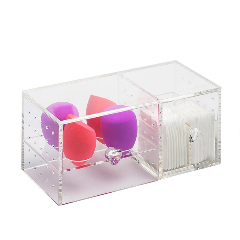 Cosmetics Organizer Acrylic Makeup Storage Case Dustproof Table Cosmetic Container