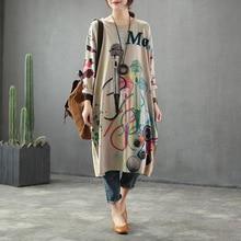 Spring Dress Retro Loose Women New Knitting Dress 2019 Ladie