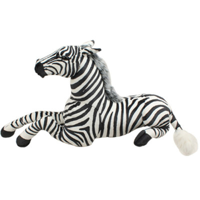 Stuffed Simulation Animal Doll Large Soft Toys Zebra Giant Cushions Peluches Toys For Children Cavalo De Brinquedo Gift 80G0308