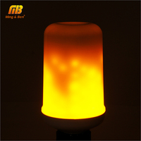 MingBen Dynamic Flame Effect LED Holiday Light Corn Bulb Lamp 110V 220V E27 Simulation Fire