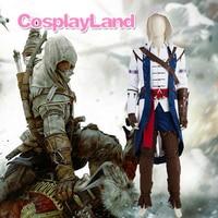 Assassins Creed III Connor Kenway Cosplay Juego de Disfraces de Halloween Disfraces para Adultos Hombres Assassins Creed Cosplay Connor