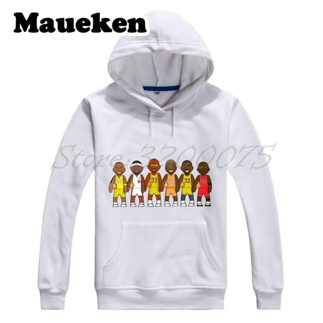 a1dd41fa06d Men Hoodies Legends Michael Jordan Lebron James Kobe Bryant Magic Johnson  o  Neal Jabbar Sweatshirts Thick W17101910
