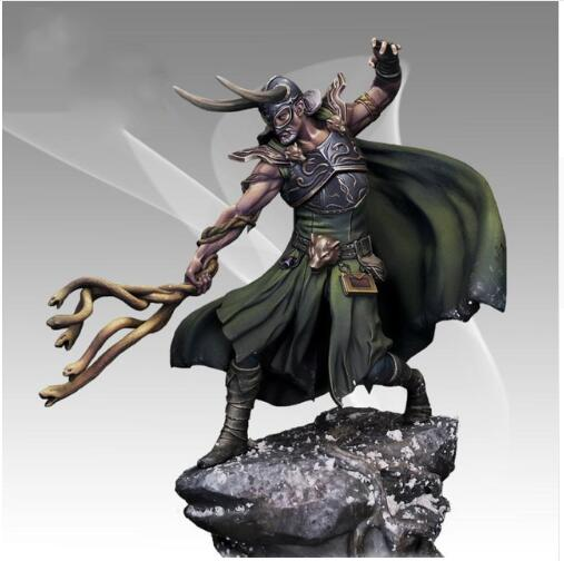 1/24 75MM LOKI Man Soldier (WITH BIG BASE )    Toy Resin Model Miniature Resin Figure Unassembly Unpainted