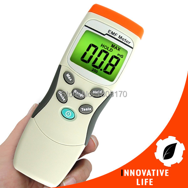 Digital Single Axis Sensor Gaussmeter EMF ELF Magnetic Field Electromagnetic Wave Gauss Meter 30~300Hz MADE in TAIWAN digital indoor air quality carbon dioxide meter temperature rh humidity twa stel display 99 points made in taiwan co2 monitor