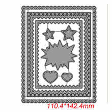 Little Hearts Rectangle Frames Stars Metal Cutting Dies For DIY Scrapbooking Embossing Paper Cards Making Crafts New 2019