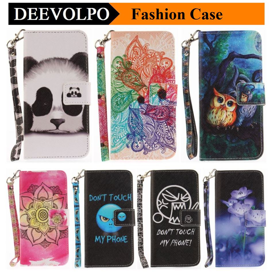 DEEVOLPO Sexy Wallet Luxury PU Leather Animal Flower Case For Samsung Galaxy A3 A5 2017 A320 A520 Stand Flip Magnetic Coque D26H