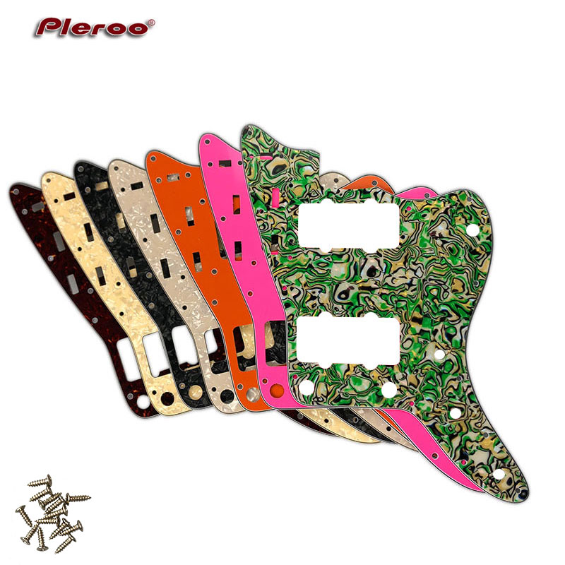 Pleroo Custom Guitar Parts - For US Standard Jazzmaster Style Guitar Pickguard Scratch Plate Replacement Electric Guitar