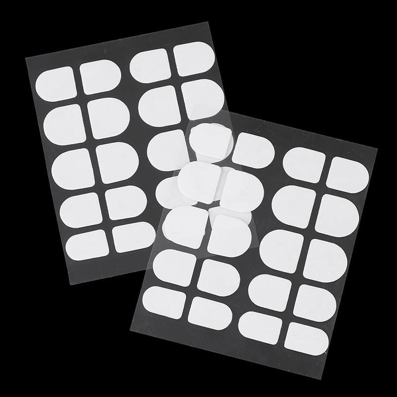 200pcs/10sheet Double Side Adhesive Glue Sticker Sticky Tape Transparent Nail Glue For Fake False Nails Art Decoration Tools DIY