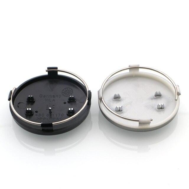 4pcs/lot Black Grey Car Wheel Hub Cap Center Caps 60mm For Audi A3 A4 A5 A6 A7 A8 S3 S4 S5 S6 S7 4B0601170