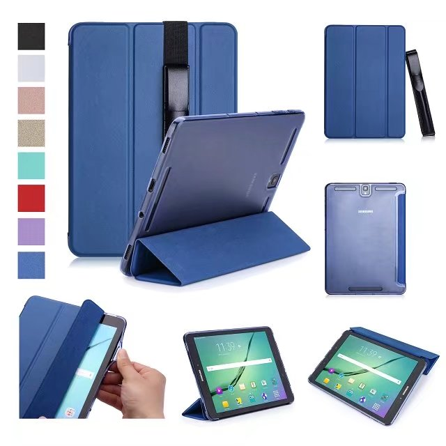 Ultra Slim Pu Leather Case Smart Protective Stand Cover With S Pen Stylus Holder For Samsung Galaxy Tab S3 9.7 T820 T825 Tablet ultra thin smart pu leather cover case stand cover case for 2015 lenovo yoga tab 3 8 850f tablet free film free stylus