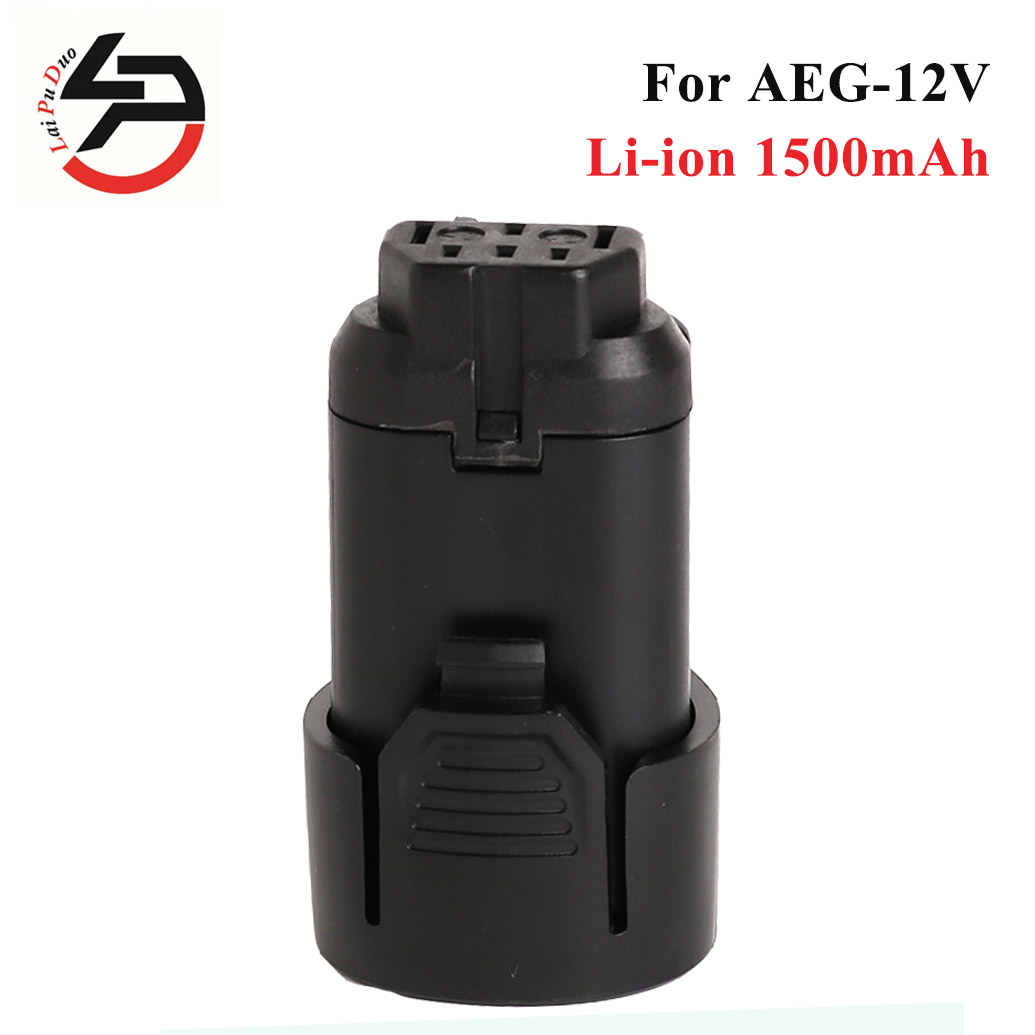 Replacement Power Tool Battery for AEG 12V 1500mAh Li-Ion Battery for Ridgid L1215 L1215P AC82008 BS12C BS12C2 BSS12C