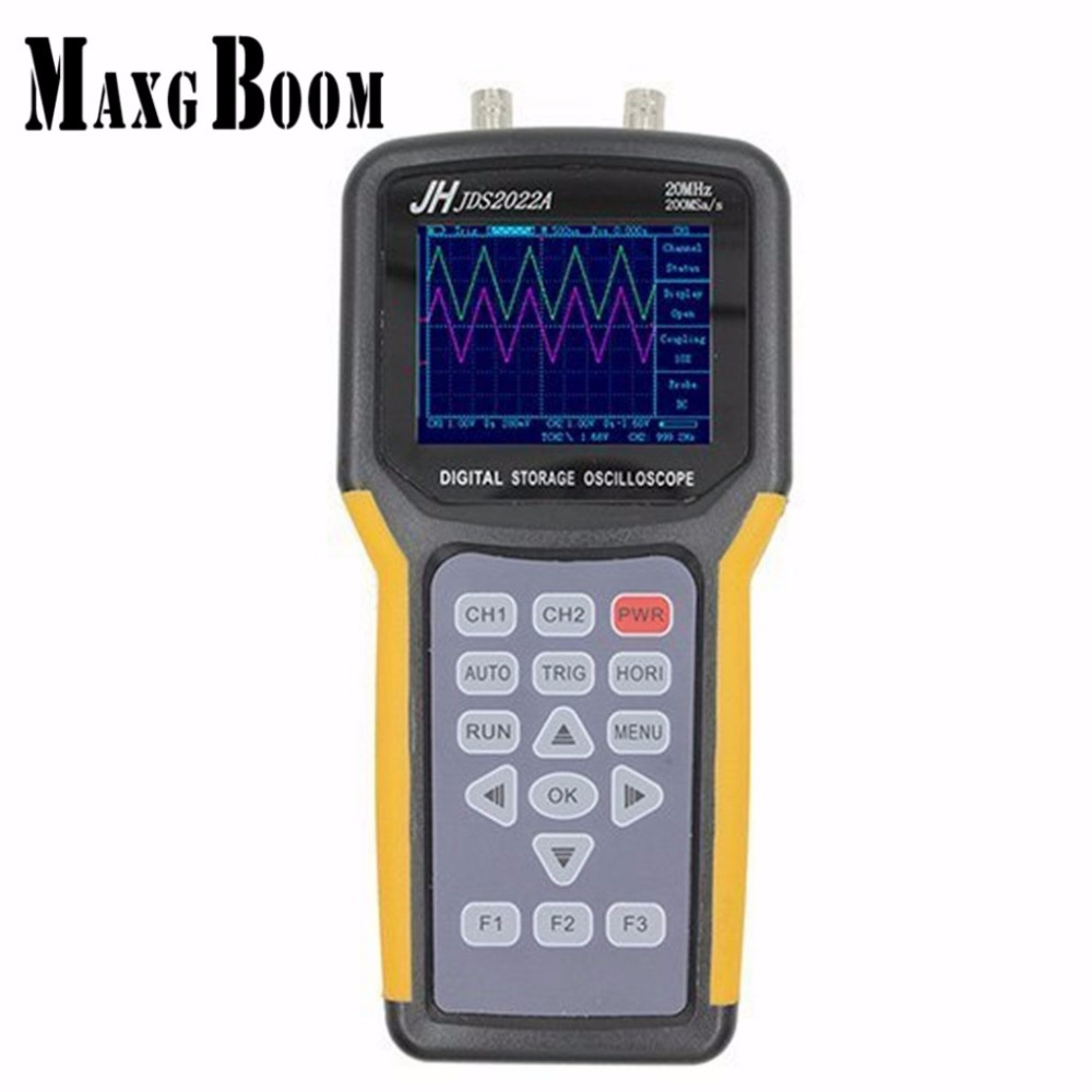 Jinhan JDS2022A Double-canal de poche Numérique oscilloscope 20 MHz Bande Passante 200MSa/s Taux D'échantillonnage, automobile oscilloscope