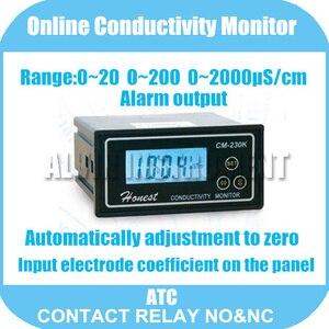 Онлайн-измеритель электропроводности тестер Измеритель анализатор Контактное реле NO & NC 0-2000us/см погрешность: 2% F. S ATC сигнал тревоги Бесплат...