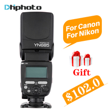 YONGNUO YN685 Беспроводной фотовспышка 2.4 Г HSS TTL/iTTL для Canon Nikon поддержка YN560IV YN560-TX RF605 РФ603 II YN685C YN685N