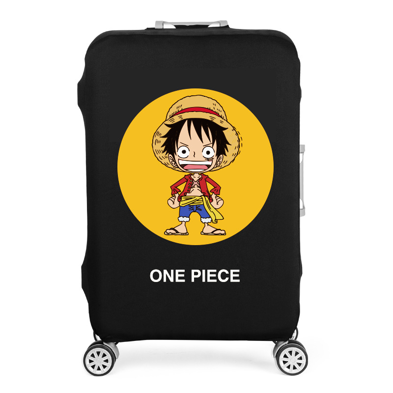 19-32 Inch Doraemon One Piece Elastic Luggage Protective Cover Trolley Suitcase Protect Dust Bag Case Cartoon Travel Accessories