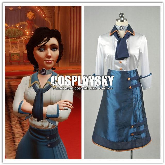 Bioshock Infinite Elizabeth Uniform Cosplay Costume for Woman Classic  Halloween Costumes