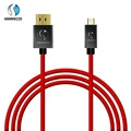 Micro HDMI to HDMI Cable 2M Gold-Plated 1.4 3D 4K 1440P High Premium Cable Adapter for HDTV XBox Mobile Phone Table Cable