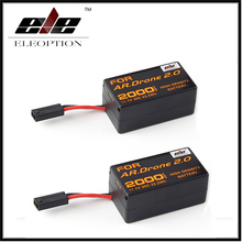 2x Eleoption High Density 2000mAh 11.1V Powerful Li-Polymer Battery For Parrot AR.Drone 2.0 Quadcopter Upgrade Powerful Battery(China)