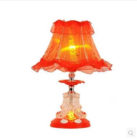 European style cloth table lamps garden bedroom modern wedding room red wedding decoration lighting desk lamp ZA ZL511