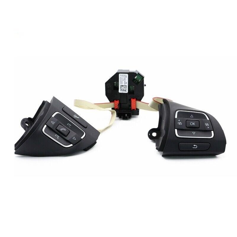 Saborway Volant Multifonction Interrupteur de Commande Et Module Pour Golf Jetta MK6 EOS Tiguan Touran 5C0959537A 5C0959538B