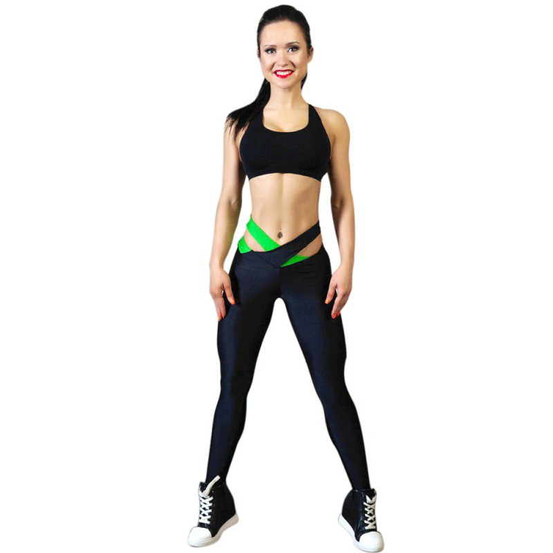 New Women Compression Pants Women Tight Stretch Pants Fitness Breathable Body Trousers Spliced Stretch Pants W1