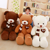 60 Cm Soft Scarf Teddy Bear Plush Toys Stuffed Plush Animals Soft Bear Pillow Cushion Toy For Kids Dolls Children Gifts