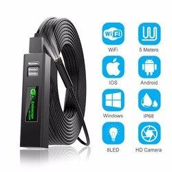 1200 p endoscópio câmera sem fio endoscópio 2.0 mp hd borescope cabo de cobra rígida para ios iphone android samsung smartphone pc