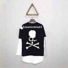 Mastermind Japan manica Lunga false due T-Shirt MMJ Scheletro T shirt Uomo  Donna 1 1 di Alta Qualità di Modo Mastermind Japan T-. c2c34335edf5