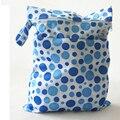 Amor de madre húmedo y seco del pañal del bolso de la cremallera Bags Holding 6-8 pañales, a prueba de agua del bebé pañales bolsas