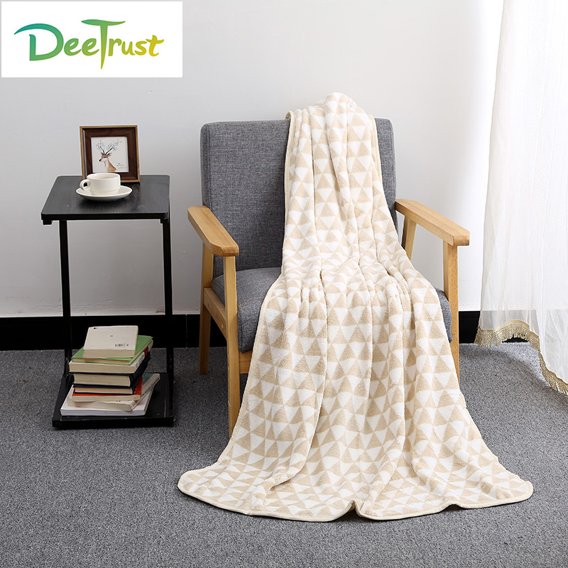 Autumn Polyester Sided Blanket Coral Fleece Blanket Home Decoration Plane Travel Plaids Bedding Christmas Kids Gift Cobertor