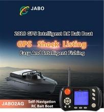 2018 New 2BL Upgrade GPS Auto Return Intelligent Remote Control Fishing Bait Boat 2.4G 2AG Wireless RC Feeding Boat Hook Ship