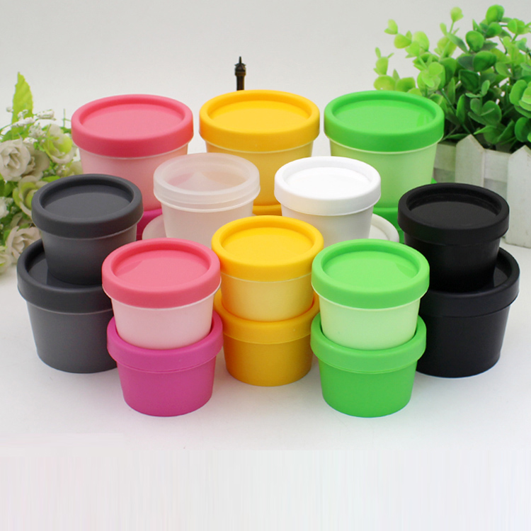 30pcs 50g 100g PP plastic mask/cream/powder jars bottles makeup packaging containers cosmetic case with insert leak proof cover