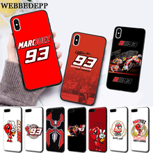 WEBBEDEPP Marc Marquez Moto Gp 93 Silicone soft Case for iPhone 5 SE 5S 6 6S Plus 7 8 11 Pro X XS Max XR все цены