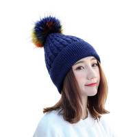 ChamsGend 2017 חמה למכירה נשים צמר חורף חמים בבאגי Weave הסרוגה לסרוג סקי כובע כובעים כפה Dropship 171020