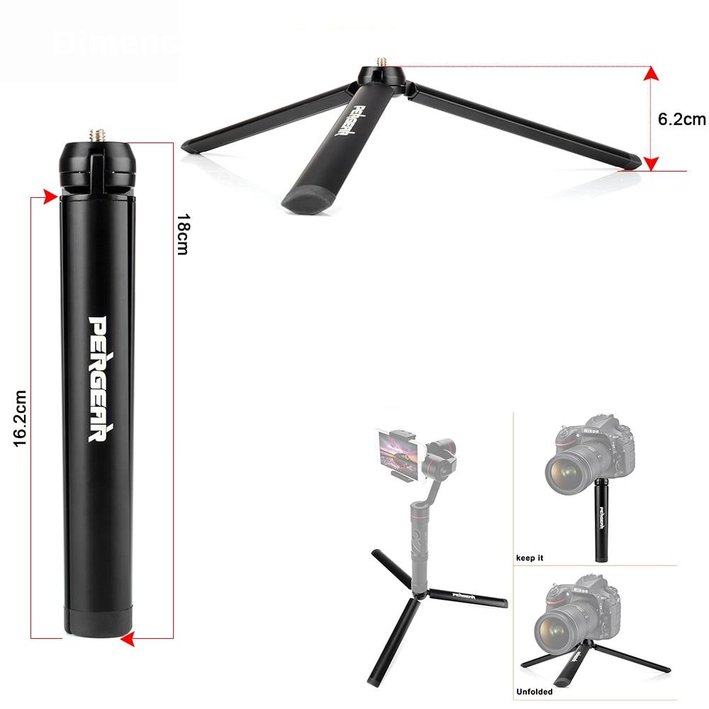 Pergear Aluminum Mini Table Tripod Leg for Tripod Head Selfie Stick Extendable Monopod Smartphones Cameras Zhiyun Smooth Q Crane