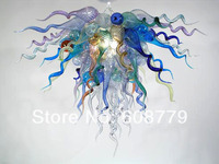 Free Shipping Unusual Shape Blown Glass Flush Mount Ceiling Light