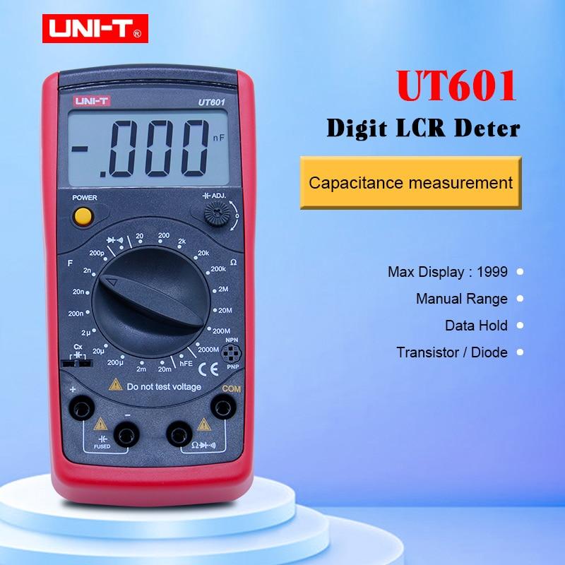 UNI-T UT601 Digital Capacitance rel meter Ohmmeters Capacitor Resistor w/Diode & Continuity BuzzerUNI-T UT601 Digital Capacitance rel meter Ohmmeters Capacitor Resistor w/Diode & Continuity Buzzer