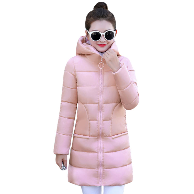 High Quality Women Winter   Basic     Jacket   Tops Cotton Padded Slim Hooded Female Coat Womens   Jackets   Casaco Feminino Inveno
