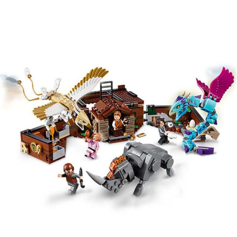 Sermoido 75952 Building Blocks Fantastic Beasts Newt's Case of Magical Creatures Educational Toys For Children