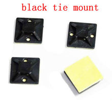Cable tie mount black Zip Tie car Cable Wire Removable Self Adhesive cable tie base Wall Holder Mount Clip/Clamp cable fix(China)