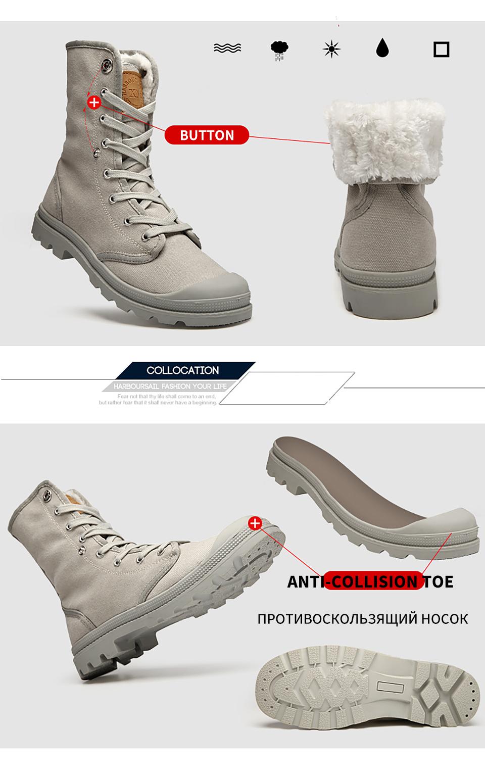 Kualitas Musim Gugur Dingin Pria Kanvas Sepatu Fashion Hangat Pantofel Grey Cadilac 295 Cm
