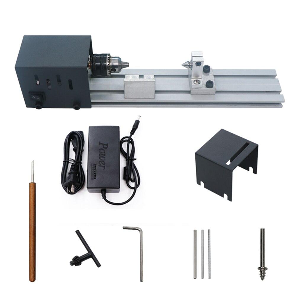 80W 24V DC Mini Lathe Beads Polisher Machine CNC Machining Woodworking Craft DIY Rotary Tool Set Standard Version цена 2017