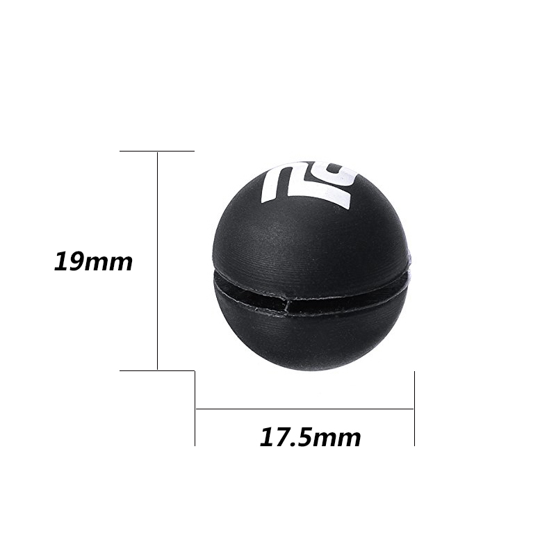 POWERTI 10pcs/lot Cute Litter Ball Shape Tennis Vibration Dampener to Reduce Shock for Tennis Racket