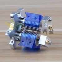 Reprap 3D принтер аксессуары M4 Алюминий сплав двойной эффектор + металлический подвесной типа «рыбий глаз» фиксированная пластина комплект i3D V6