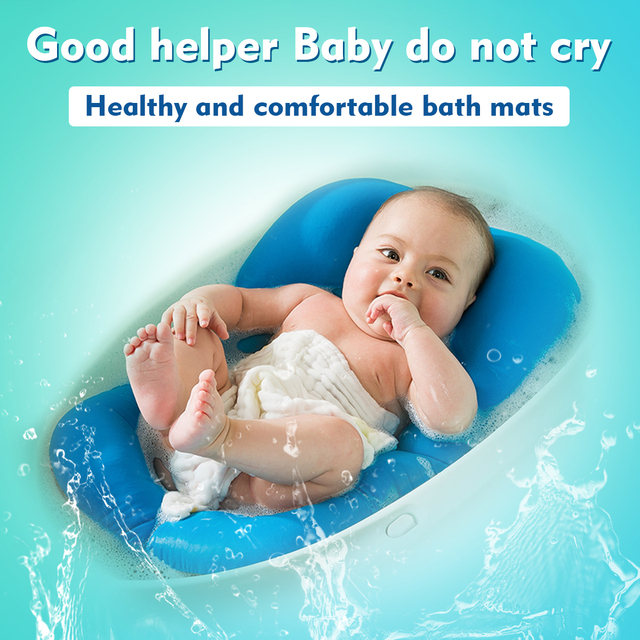 Baby Bath Tub Pillow Pad Lounger Air Cushion Floating Soft Seat Infant Newborn Non-slipt Bath Pillow Bathroom Accessories